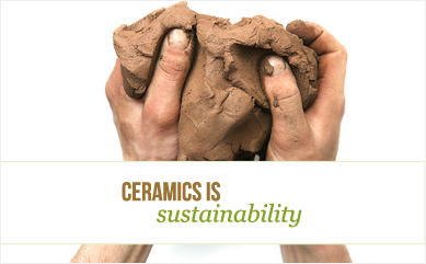 Ceramic is sustainability